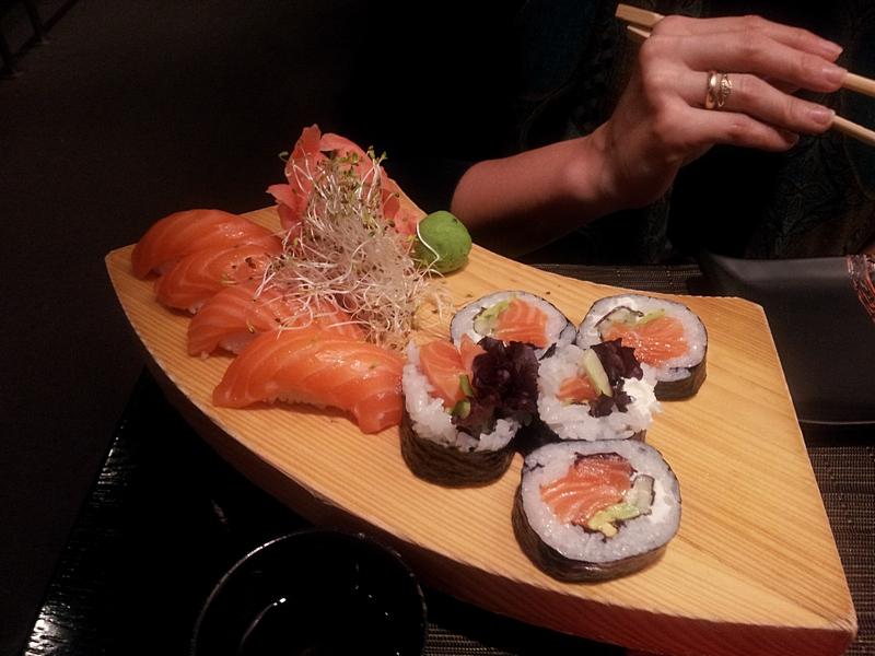 Na sushi z dziecięciem