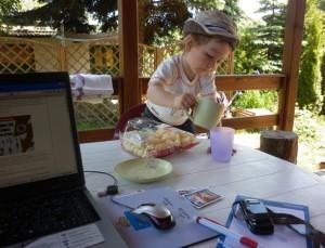 Praca w domu z dzieckiem