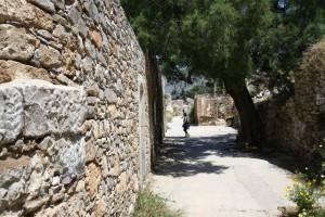 Zabytkowe zabudowania na wyspie Spinalonga - Kreta